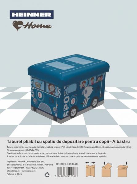 TABURET PLIABIL PVC PTR COPII ALBASTRU 1