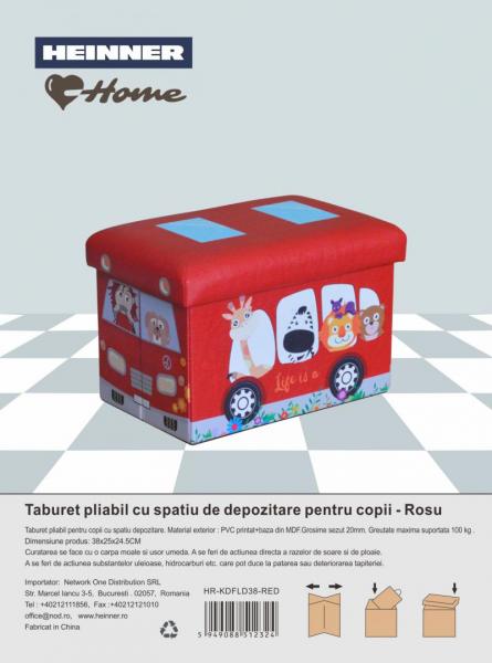 TABURET PLIABIL PVC PTR COPII ROSU [1]