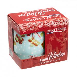 Cana portelan fin  310 ml, WINTER [6]