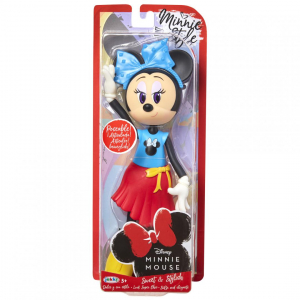 Papusa Minnie Mouse cu fundita albastră0