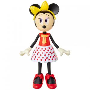 Papusa Minnie Mouse cu fundita galbena1