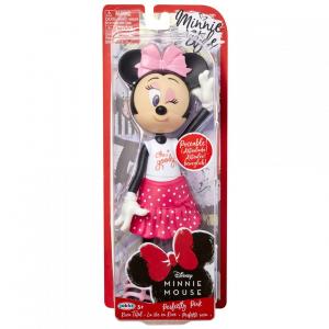 Papusa Minnie Mouse cu fundita roz0