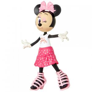 Papusa Minnie Mouse cu fundita roz2