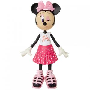 Papusa Minnie Mouse cu fundita roz1