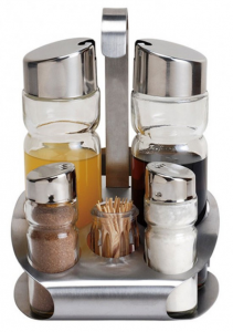 Set condimente Bohmann, 6 piese, suport scobitori1