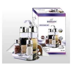Set condimente Bohmann, 6 piese, suport scobitori0