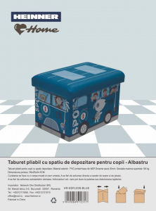 TABURET PLIABIL PVC PTR COPII ALBASTRU1