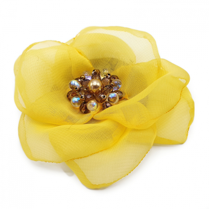 brose martisor handmade floare textila 0