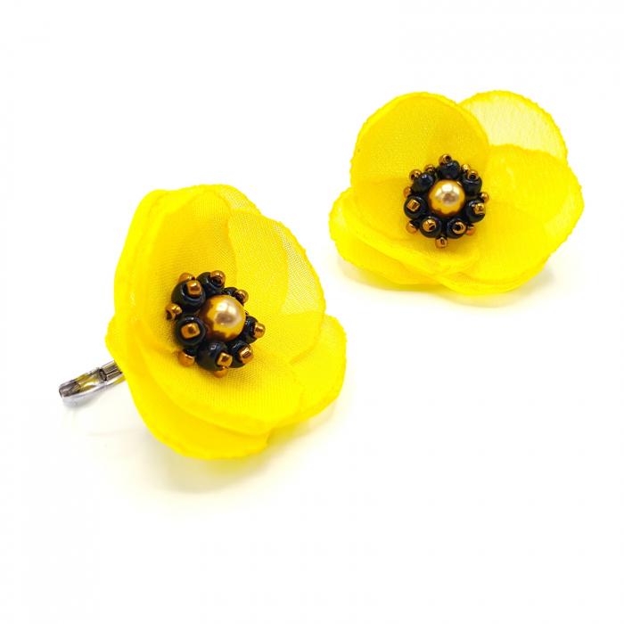 cercei-galbeni-design floral 2