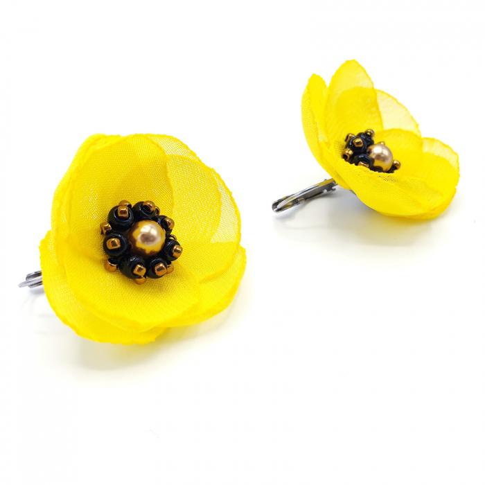 cercei-galbeni-design floral 0