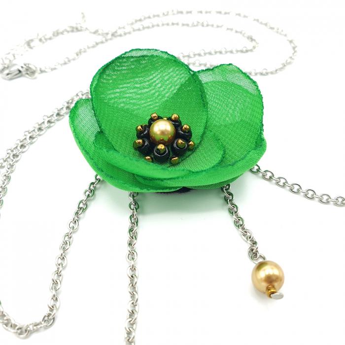 colier-lung-pandantiv-floare-verde 3