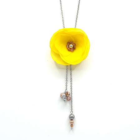 SABRINA | Colier lung cu design floral0