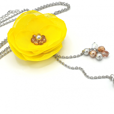 SABRINA | Colier lung cu design floral2