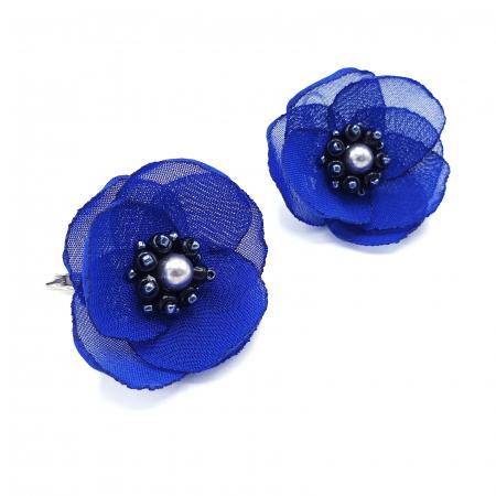 CINDY | Cercei eleganti albastri design floral1