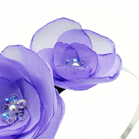 SWEET DREAMS | Coronita cu flori lila, din voal1