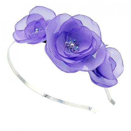 SWEET DREAMS | Coronita cu flori lila, din voal0