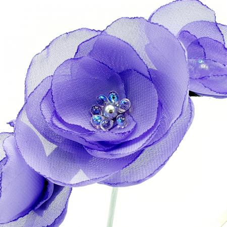 SWEET DREAMS | Coronita cu flori lila, din voal2