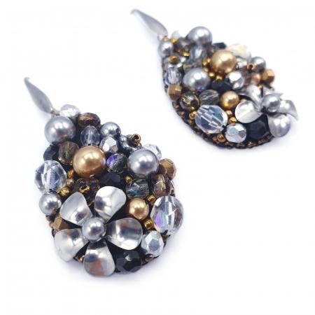 Sparkle Drops | Cercei eleganti lacrima statement2