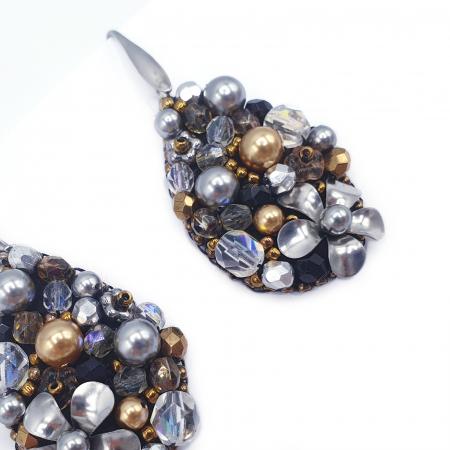 Sparkle Drops | Cercei eleganti lacrima statement3