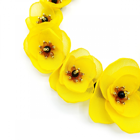YELLOW BLOOM | Colier cu flori galbene, statement1