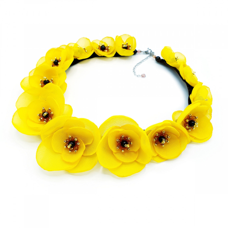 YELLOW BLOOM | Colier cu flori galbene, statement0