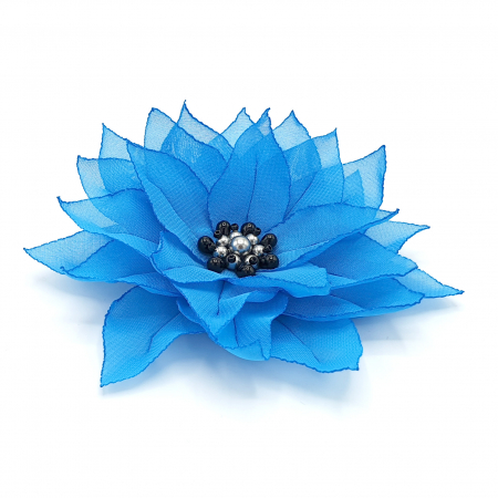 JASMINE | Agrafa par floare albastra0
