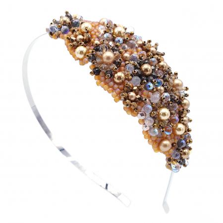 GLOW | Coronita par aurie cu perle Swarovski0