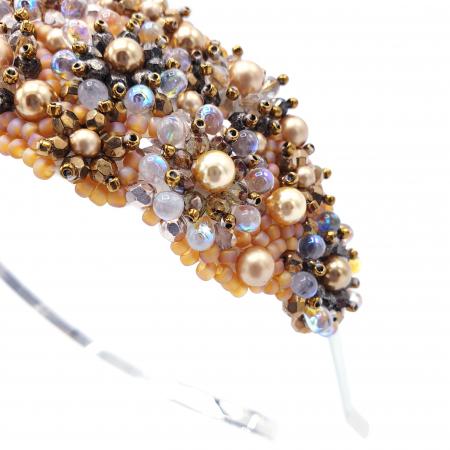 GLOW | Coronita par aurie cu perle Swarovski2