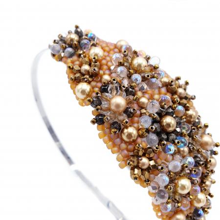 GLOW | Coronita par aurie cu perle Swarovski3