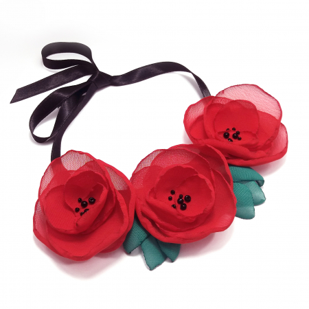 RED POPPIES | Colier cu maci0