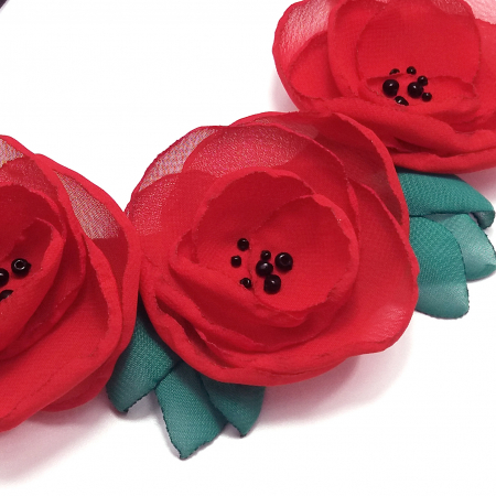 RED POPPIES | Colier cu maci1