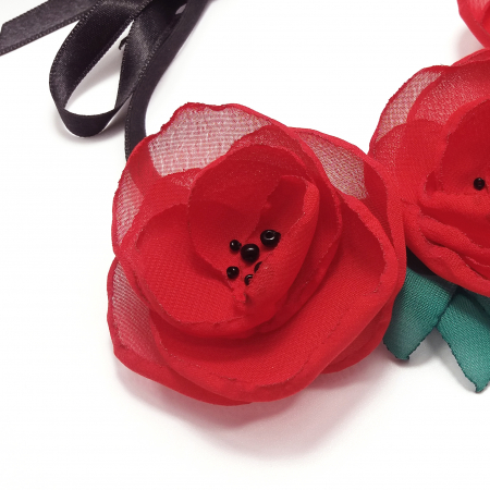RED POPPIES | Colier cu maci2