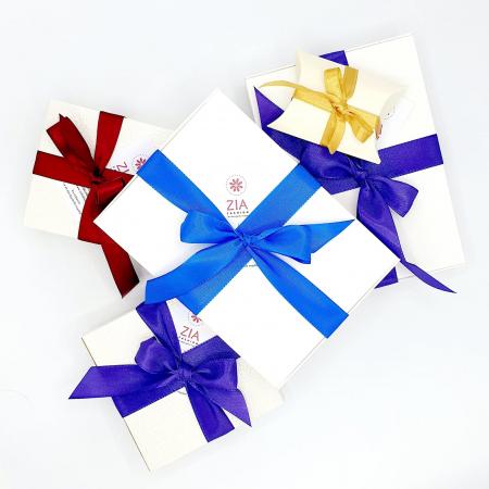 JESSIE | Cercei eleganti floare albastra, perle Swarovski4