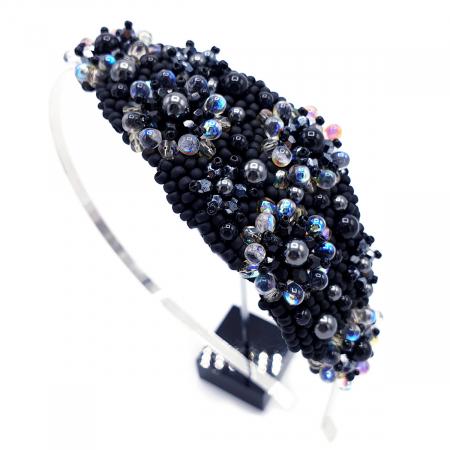 MYSTIC LADY | Coronita par neagra cu perle2