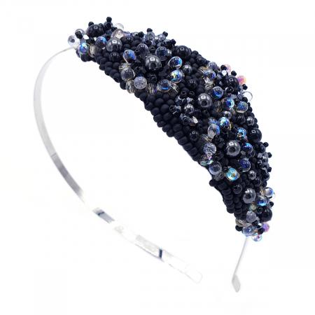 MYSTIC LADY | Coronita par neagra cu perle0
