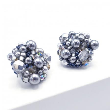 Silver Drops | Cercei argintii eleganti statement1