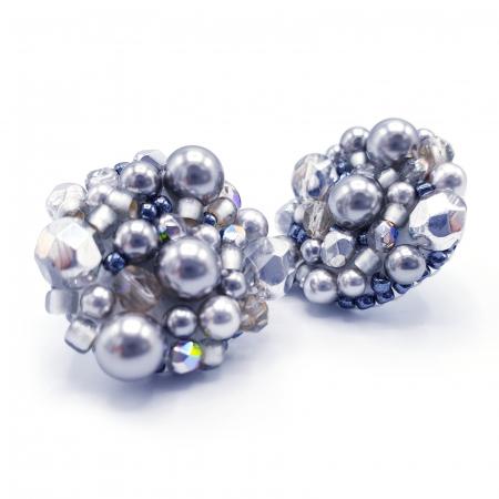 Silver Drops | Cercei argintii eleganti statement3