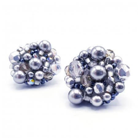 Silver Drops | Cercei argintii eleganti statement0