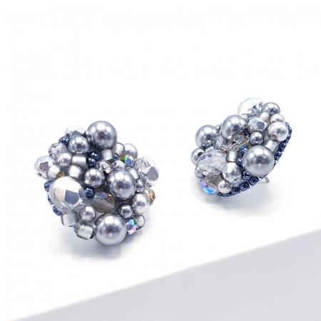 Silver Drops | Cercei argintii eleganti statement2