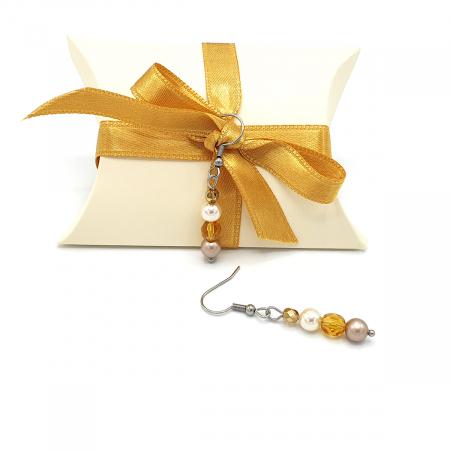 HONEY | Set colier si cercei, auriu, elemente Swarovski2
