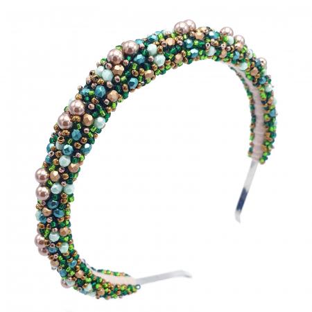 coronita-par-perle-cristale-verde-auriu [0]