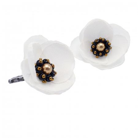 cercei-albi-design floral [0]
