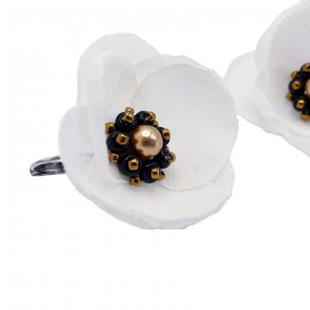 cercei-albi-design floral [3]