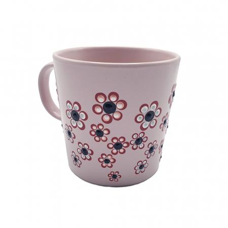 ROSANA | Cana roz pentru cafea/ ceai, pictata manual cu flori0