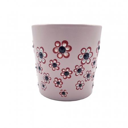 ROSANA | Cana roz pentru cafea/ ceai, pictata manual cu flori3