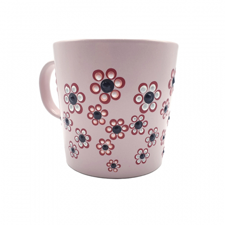 ROSANA | Cana roz pentru cafea/ ceai, pictata manual cu flori5