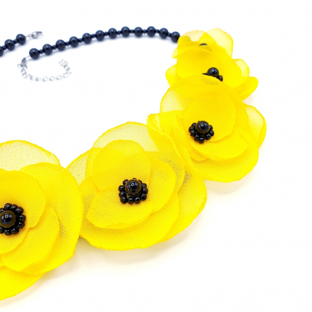 YELLOW CANDY | Colier cu flori galbene3