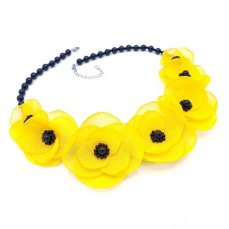 YELLOW CANDY | Colier cu flori galbene0