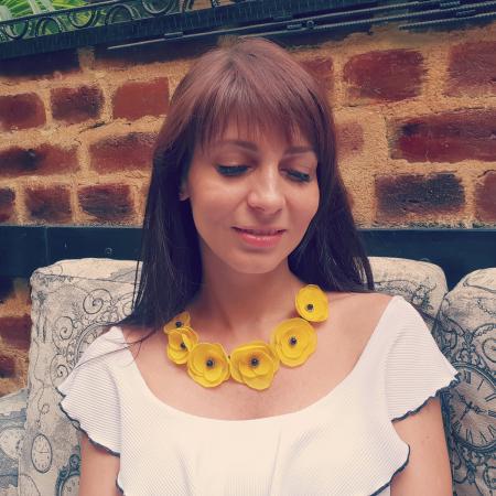 YELLOW CANDY | Colier cu flori galbene1