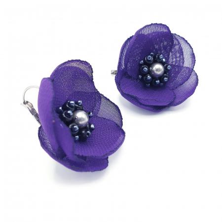 ALISSA | Cercei eleganti mov design floral0